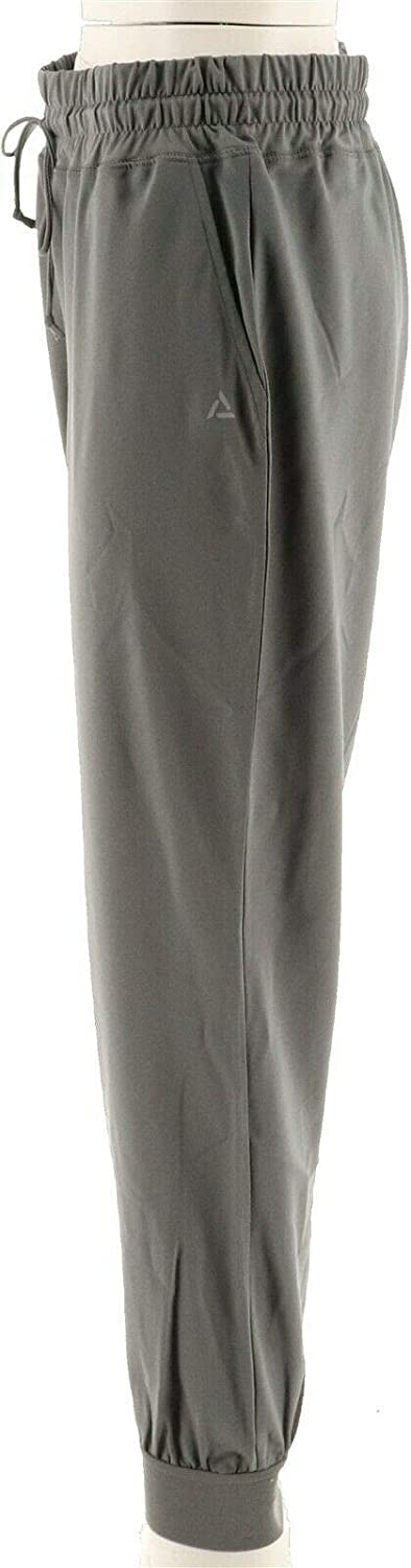 AnyBody Move High Tech Stretch Jogger Pants Charcoal 1X NEW A306094