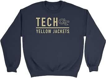 Venley Official NCAA Georgia Tech Yellow Jackets Men's/Women's Boyfriend Sweatshirt C42AN02