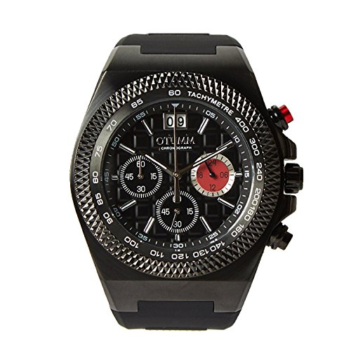 Otumm Big Date Negro 45mm Correa Negra Unisex Big Date Reloj: Amazon.es: Relojes