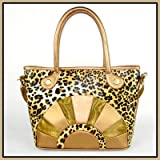 Backbone Leopard Print Canvas Pet Carrier with Faux Leather