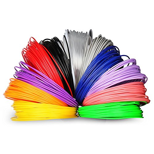 Soyan ABS 3D Pen Filament Refill Pack, 1.75mm Diameter (12 Colors, 10m each)
