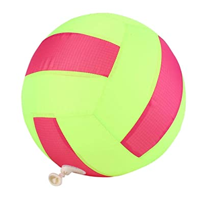 VGEBY1 Inflatable Cloth Ball, Three Colors Option Fantastic Cloth Beach Ball with Inflatable for Children Outdoor Game(Volleyball): Toys & Games