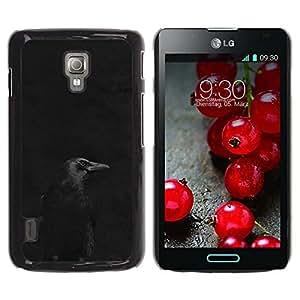 iKiki Tech / Estuche rígido - Black Night Minimalist Peak Dark - LG Optimus L7 II P710 / L7X P714