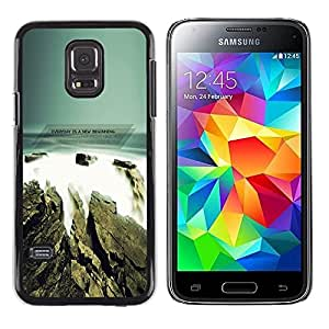 Be Good Phone Accessory // Dura Cáscara cubierta Protectora Caso Carcasa Funda de Protección para Samsung Galaxy S5 Mini, SM-G800, NOT S5 REGULAR! // Seaside Grey Blue Nature Ocean