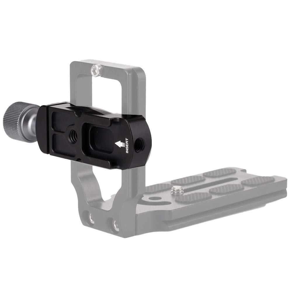 para c/ámara profesional Abrazadera universal de aluminio con adaptador para montaje de zapata de flash y tornillo de 1//4 soporte L zapata r/ápida L Woohot Arca Swiss Clamp