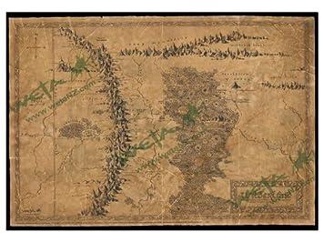 image relating to Weta Uk Printable Schedule identify Map Of Wilderland Artwork Print towards The Hobbit An Unforeseen