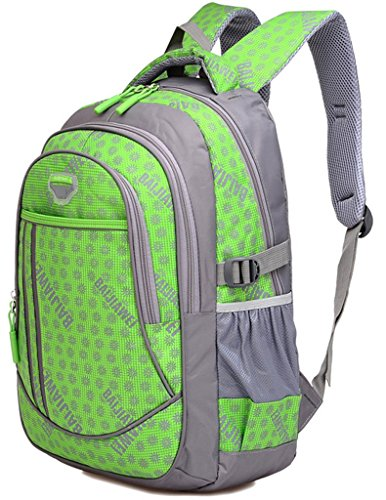 Large Space Nylon Double Shoulders Backpack Nice for School Students