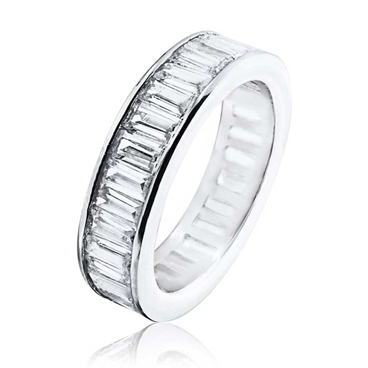 halo henri bands baguette stone wedding five daussi anniversary cushion diamond band