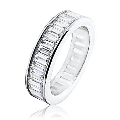 Amazoncom Bling Jewelry Channel Set CZ Wedding Band Sterling