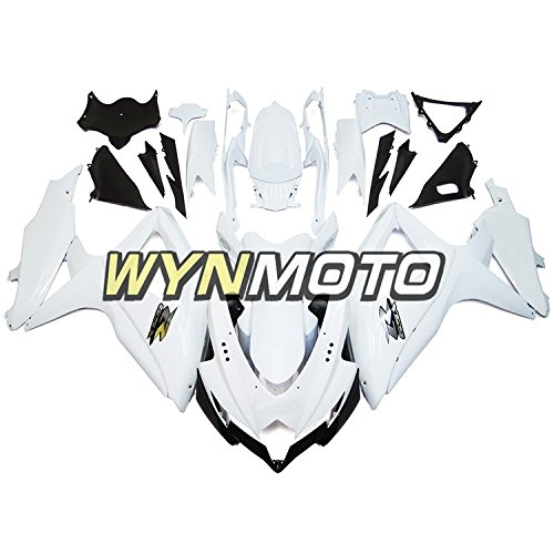 WYNMOTO Motorcycle Body Kit For Suzuki GSX-R600-750 2008 2009 2010 K9 08 09 10 Sportbike Pure Matte White ABS Plastic Injection Fairings