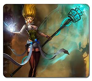 Customized Fashion Style Textured Surface Water Resistent Mousepad Janna League Of Legends 2 High Quality Non-Slip Gaming Mouse Pads by mcsharks