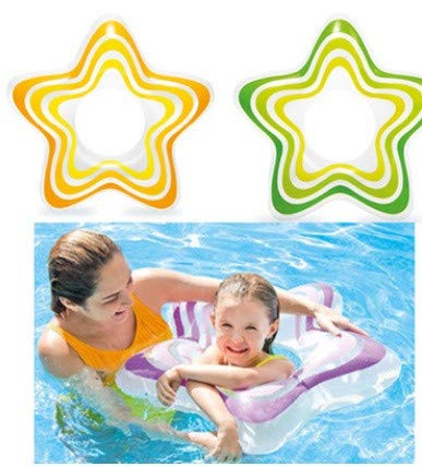 - Maikouhai Five Pointed Star Pentagram Water Float Floating Ring Swim Ring Children's Armpit Circle 3-6 Years Old, Inner Dia 23cm