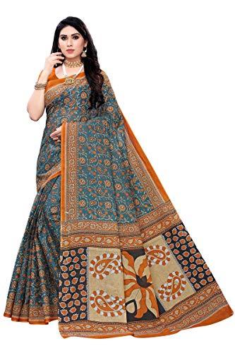 GoSriKi Without Blouse Piece Saree (Pure Cotton 100% 1042_1_Multicolored_Free)