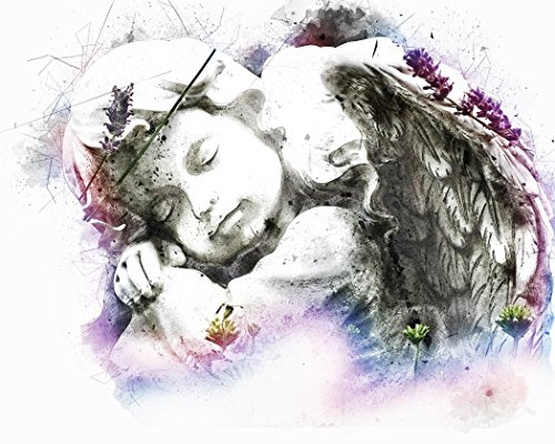- Castle & Rye Angel Cherub Sculpture Art Photo Quality Poster Print for Living Room or Bedroom Wall