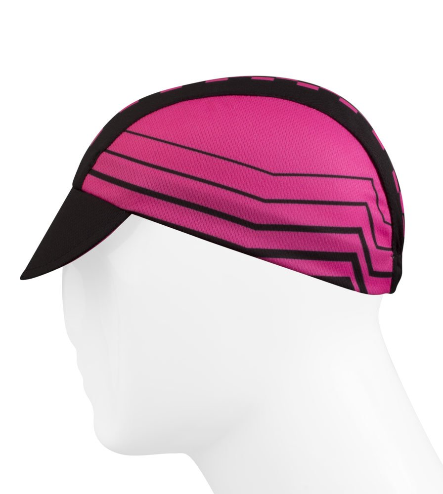 Pink Checkers Cycling Cap - Made in the USA by Aero Tech Designs (Image #3)