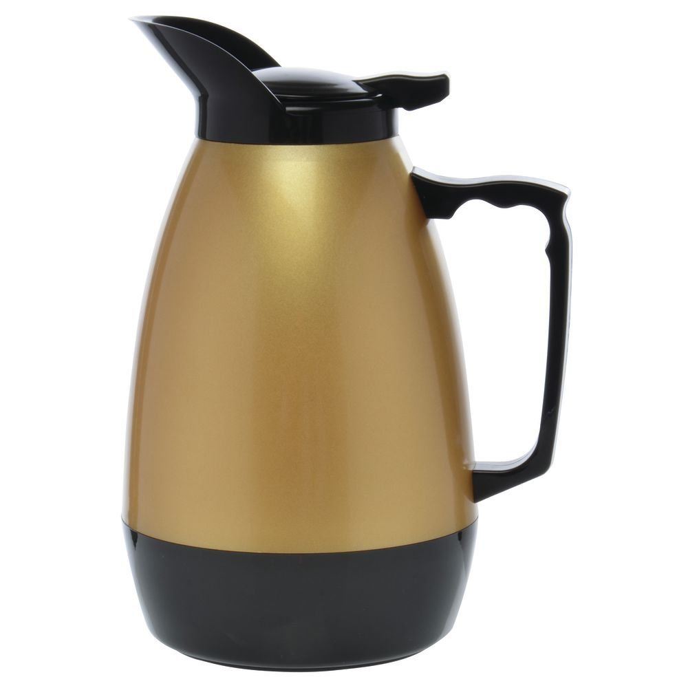 HUBERT Thermal Coffee Carafe, 0.5 L Gold and Black