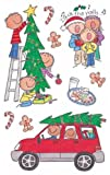 Me & My Big Ideas Mambi 4-1/2 Inch by 6 Inch Minis Stickers 3 Sheets/Package, Deck The Halls