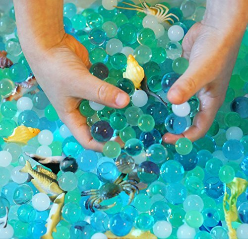 Water Sensory Table (Dew Drops Water Beads Ocean Explorers Tactile Sensory Kit - Sea Animal Creatures Included)
