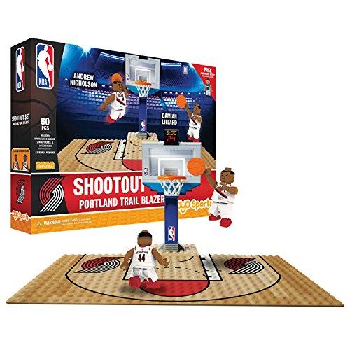 (OYO NBA Portland Trail Blazers Display Blocks Shootout Set, Small, No Color)