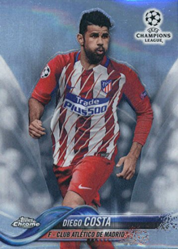 2018 Topps Chrome UEFA Champions League Refractor #81 Diego Costa Club Atlético De Madrid Soccer Card