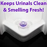 Long Lasting Urinal Screen and Deodorizer with Non-Para Block 12 Pack. Universal-Fit, Floral-Scent Cake Releases Cleaning Agents To Remove Odor. Durable Mat Limits Janitorial Cleaning and Supply Needs
