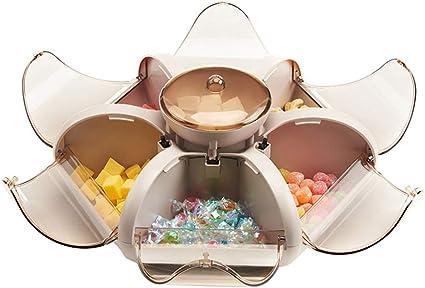 ASP Online Traders Blumendrehende Candy Box Trockenfruchtplatte Snack-Serviertablett Blumenf/örmige Snackbox Aufbewahrungsbeh/älter Snack-Serviertablett mit Telefonhalterung f/ür Zuhause//K/üche