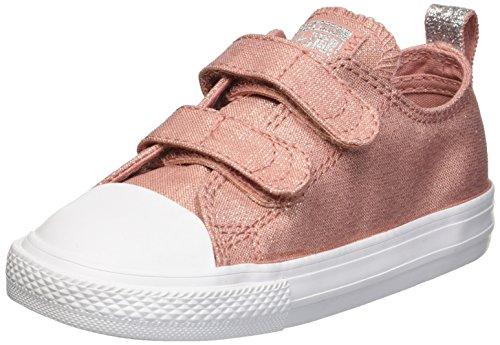 k Taylor All Star 2V Sneaker, Pink/Milk, 7 M US Toddler ()