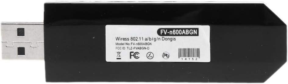 Chenggong Chg 300Mbps USB inal/ámbrico WiFi WLAN Adaptador de Tarjeta de Red para Ralink RT3572 de Doble Banda para Samsung Smart TV Uso de la computadora