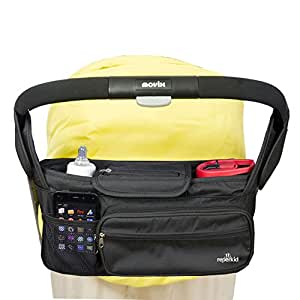 Stroller Organizer Bag – Large Capacity - Premium Baby Stroller Bags Fits All Types of Strollers - Comes w/ Smartphone & Dual Bottle Holder - Great Durability & Design