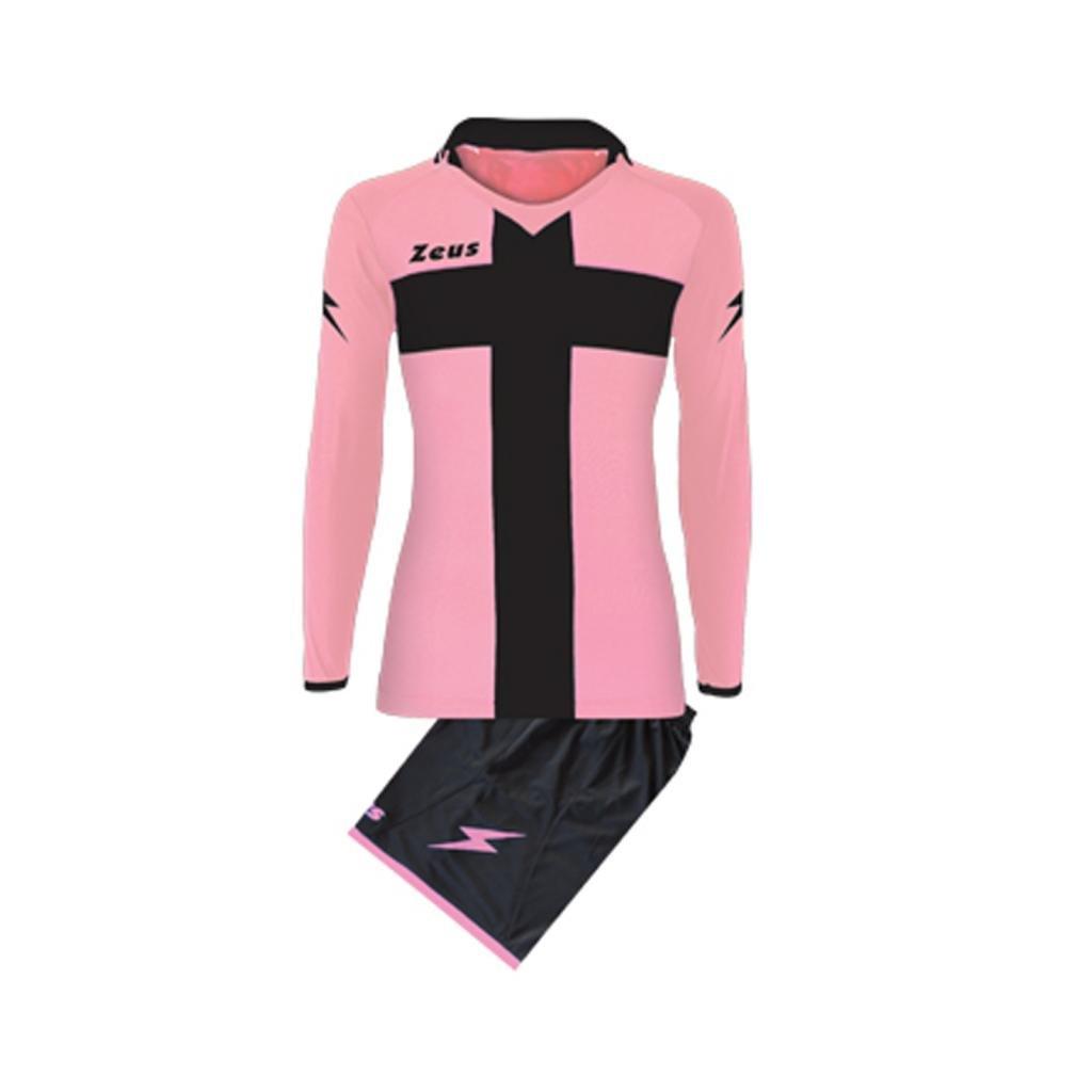 Kit Zeus Croce Bianco-Rosso Completino Completo Calcio Uomo Donna Calcetto Muta Torneo Scuola Sport