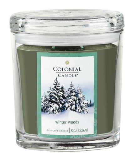 Colonial Candle Winter Woods 8 oz Scented Oval Jar Candle