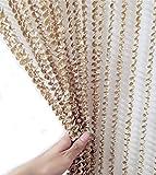 Evasplit Door String Curtain Screen Wall Panel Valance Fringe Tassel Divider Decorative for Window Room wedding 39inchX78inch ES030 (champagne) Review