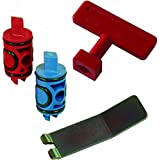 Viega 50602 PureFlow Zero Lead Manabloc Valve Stem Replacement Kit Red and Blue
