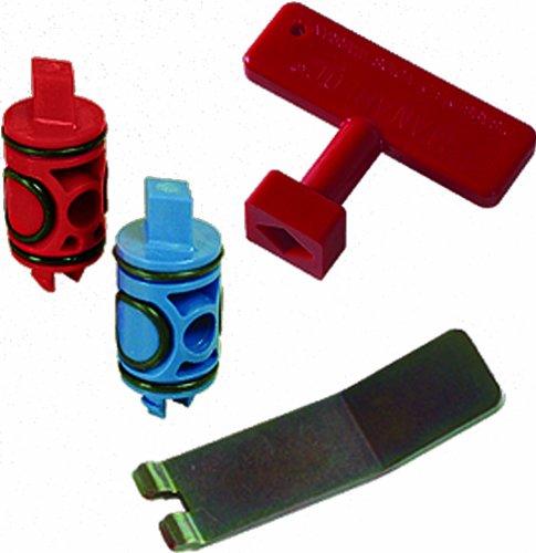 Viega 50602 PureFlow Zero Lead Manabloc Valve Stem Replacement Kit Red and (Aquapex Blue Tubing)