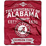 NCAA Label 50-inch by 60-inch Plush Raschel Throw