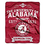NCAA Alabama Crimson Tide Label Plush Raschel Throw, 50' x 60'