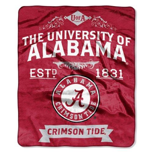 NCAA Alabama Crimson Tide College Label Raschel Throw, 50 x - Stores Northwest Mall
