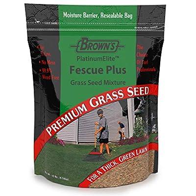 F.M. Brown's Premium Grass Seed Green Turf Fescue Plus Mixture, 10lb : Garden & Outdoor
