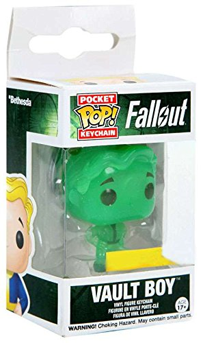 Funko Pocket POP! Keychain: Fallout - Exclusive Glow-In-The-Dark Vault Boy Figure
