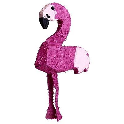 Helio Ferretti HF Piñata Grande en Forma de Flamenco, Cartón y Papel, Rosa, 40x60x14 cm: Hogar