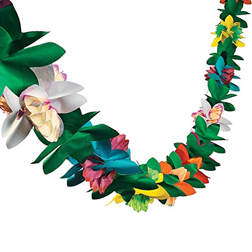 Fun Express - Paper Tissue Flower Garland for Party - Party Decor - Hanging Decor - Garland - Party - 1 Piece]()