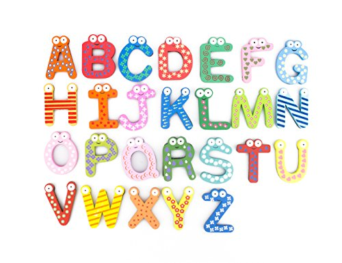 0 Bonamart Wooden Alphabet Magnets Refrigerator