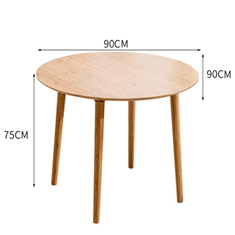 Amazon.com - QIDI Table Solid Wood Round Dining Table Simple ...