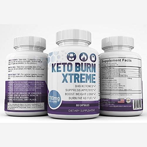 Keto Burn Xtreme - BHB Ketones - Suppress Appetite - Boost Weight Loss - Burn Fat As Fuel - 700mg Keto Blend - 30 Day Supply 9