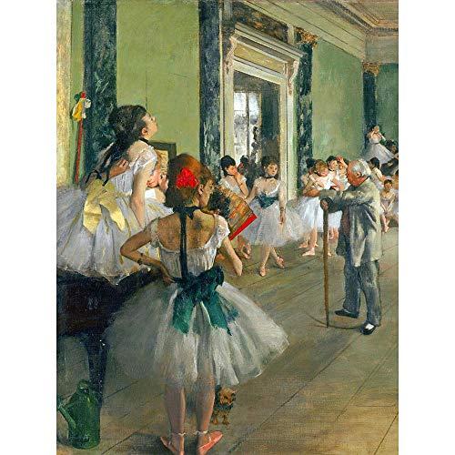 Wee Blue Coo Edgar Degas Ballet Class Old Master Painting Unframed Wall Art Print Poster Home Decor Premium