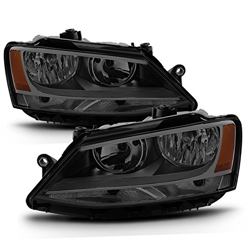 ACANII - For SMOKE 2011-2018 Volkswagen VW Jetta Headlights Signal Lamps Headlamps Driver + Passenger Side