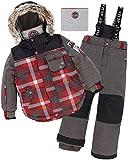 Deux par Deux Boys' 2-Piece Snowsuit Lumberjack Charcoal, Sizes 5-14 - 12