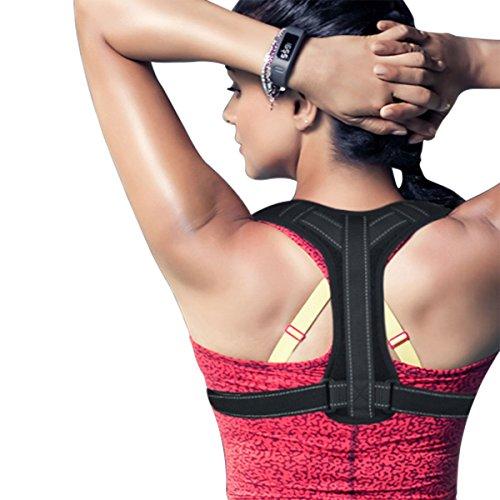 Back Posture Corrector Brace Universal Adjustable Back Brace Support Perfect for Womens,Mens & Teens.Improve Posture with Best Elastic Posture Shoulder Brace Clavicle Upper Back & Neck Pain Relief
