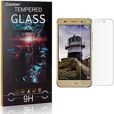 Conber [3 Stück] Displayschutzfolie kompatibel mit Huawei Y3 2018, Panzerglas Schutzfolie für Huawei Y3 2018 [9H Härte][Hüllenfreundlich]