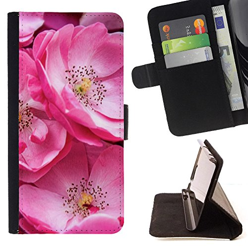 God Garden - FOR Apple Iphone 4 / 4S - Beautiful Wild Roses - Glitter Teal Purple Sparkling Watercolor Personalized Design Custom Style PU Leather Case Wallet Fli